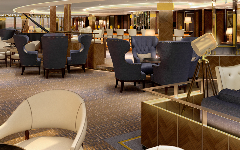 Richmond Design Interiors For Britain 39 S Largest Cruise Ship In Design Magazinein Design Magazine