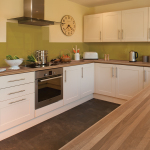 Axiom Walnut Microplank MAT worktop with Wasabi splashback